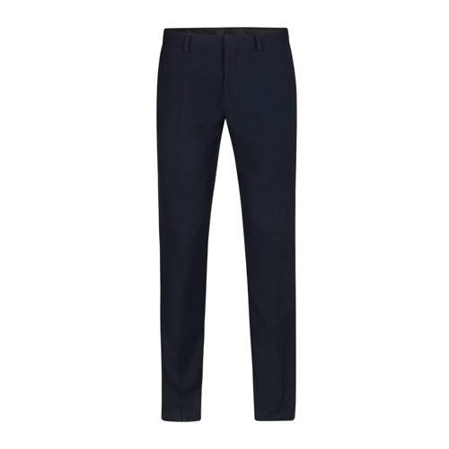 WE Fashion regular fit pantalon donkerblauw