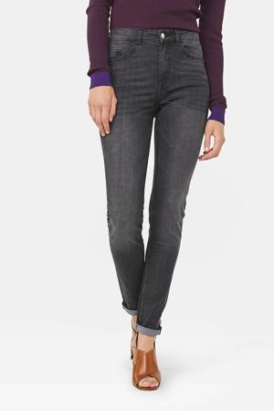 high waist skinny jeans grey denim