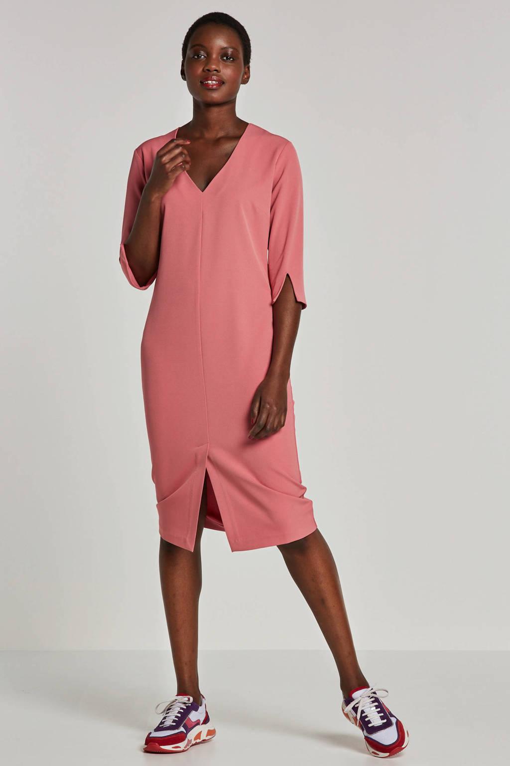 Fifth House jersey jurk Raffia roze, Roze
