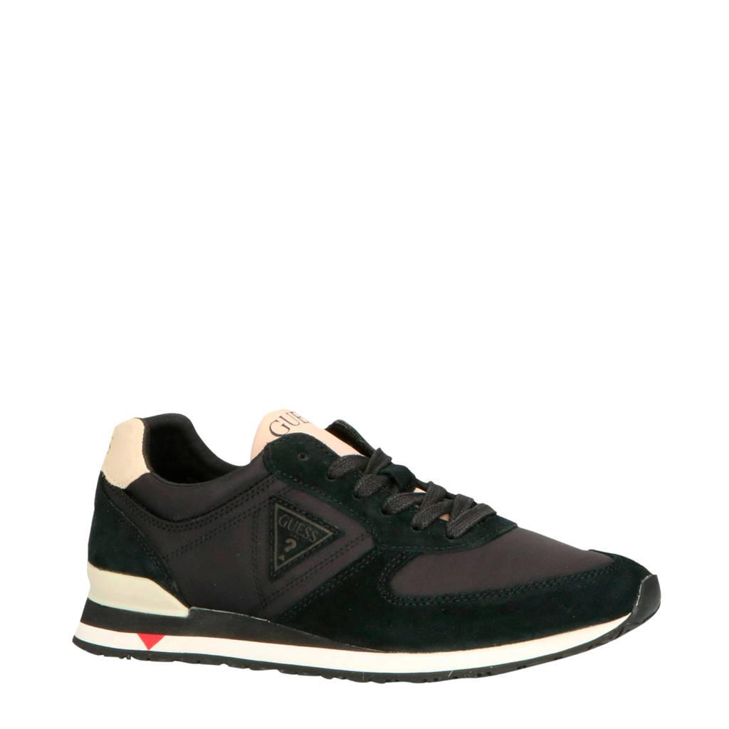 GUESS  FM7CHT/SUE12 suède sneakers zwart, Zwart/beige