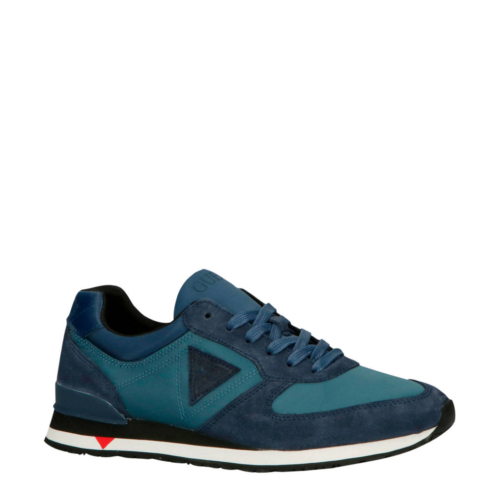 GUESS  FM7CHT/SUE12 suède sneakers blauw, Blauw