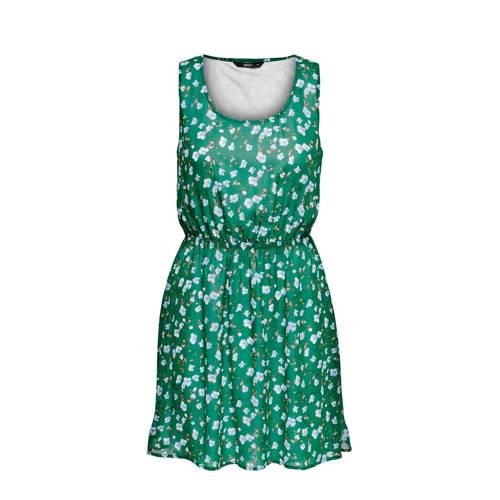 ONLY jurk met bloemenprint groen kopen