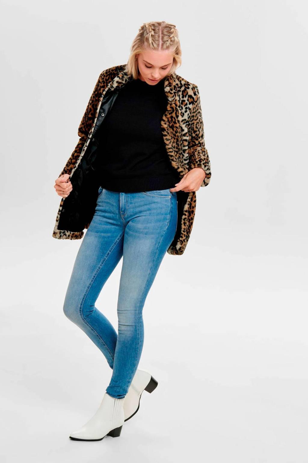 ONLY imitatiebont coat met panterprint bruin/zwart, Bruin/zwart