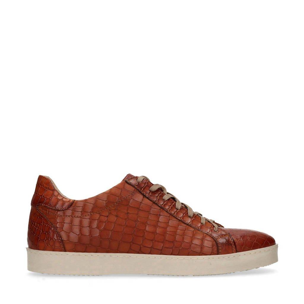 Label Leren Manfield Black Bruin Sneakers 5AxqqRX4