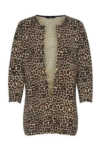 vest met luipaardprint