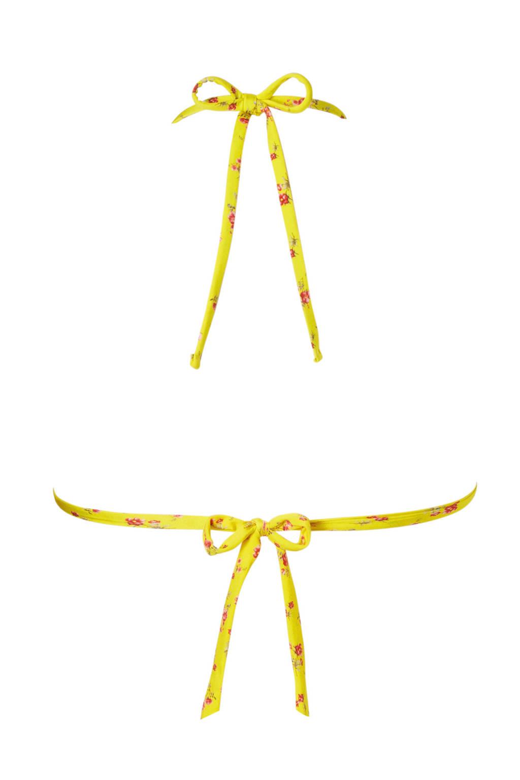 In Print All Geel Moontriangel Bikinitop Banana Over aqFffpx
