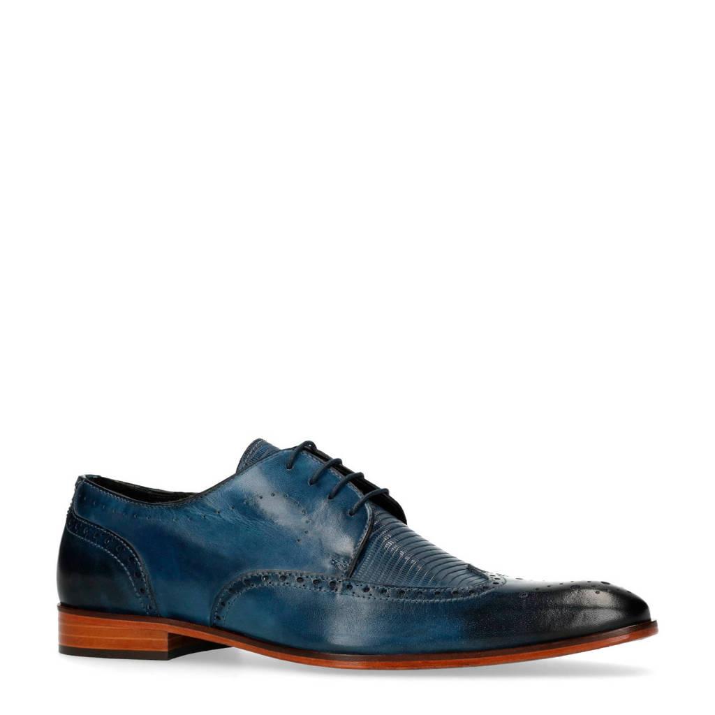 Manfield Black Label veterschoenen blauw, Blauw