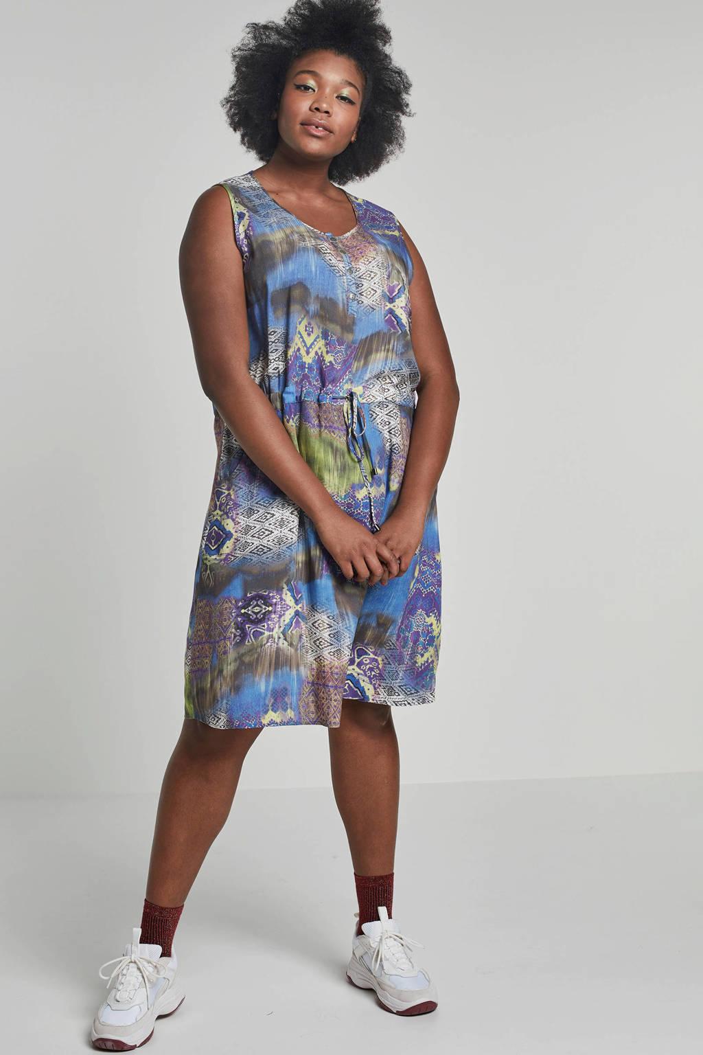 No Secret geweven jurk, Blauw/multikleuren