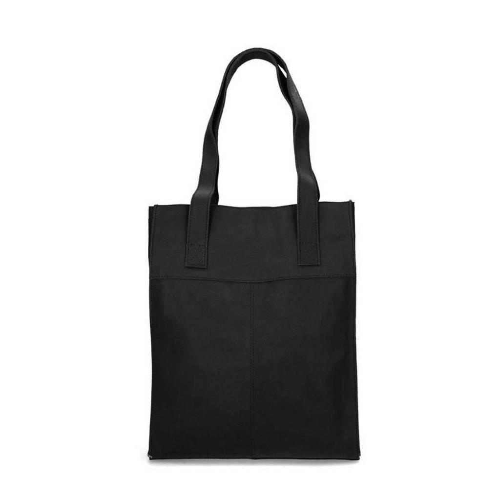 Sacha  leren shopper zwart, Zwart