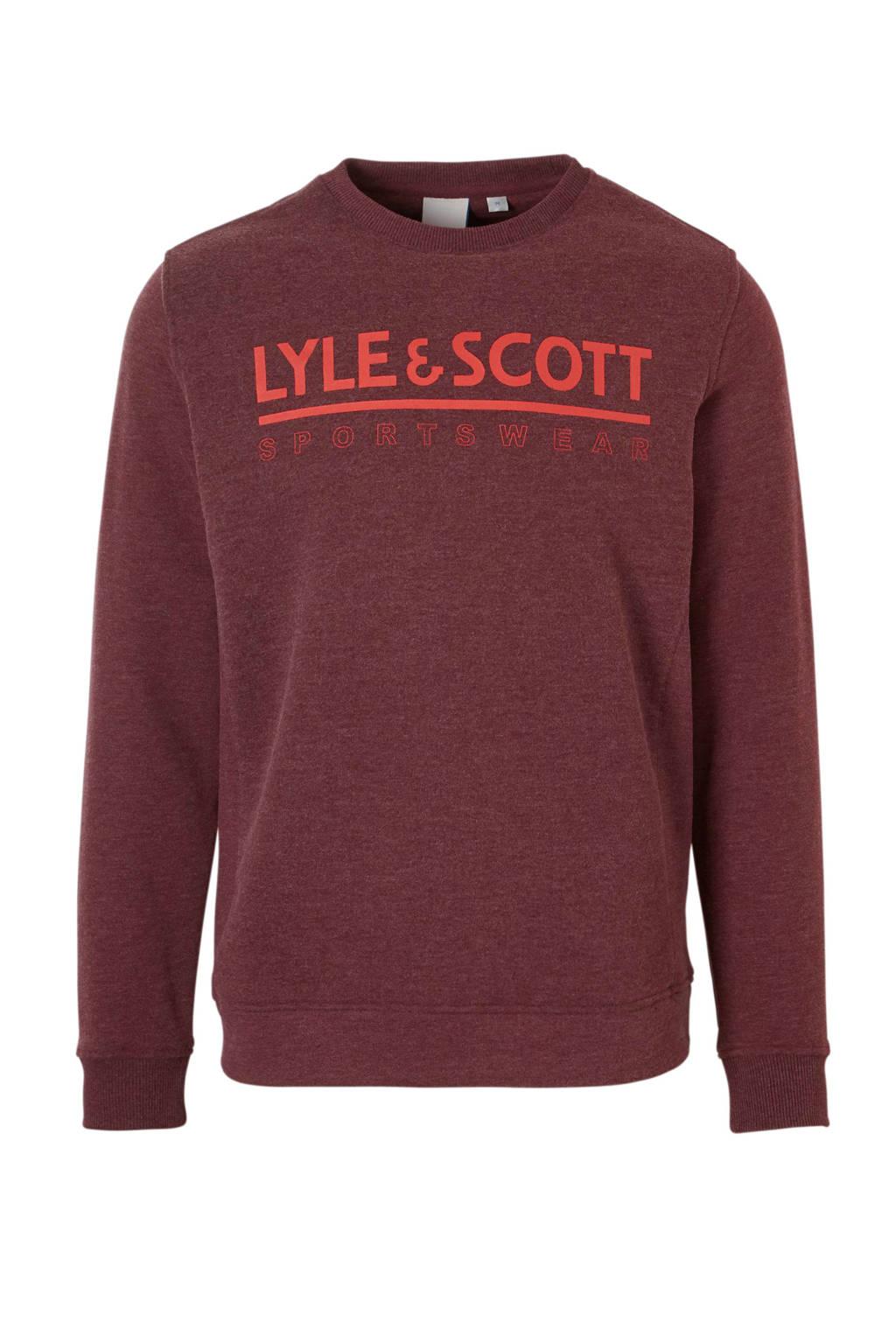 Lyle & Scott   sportsweater donkerrood, Donkerrood