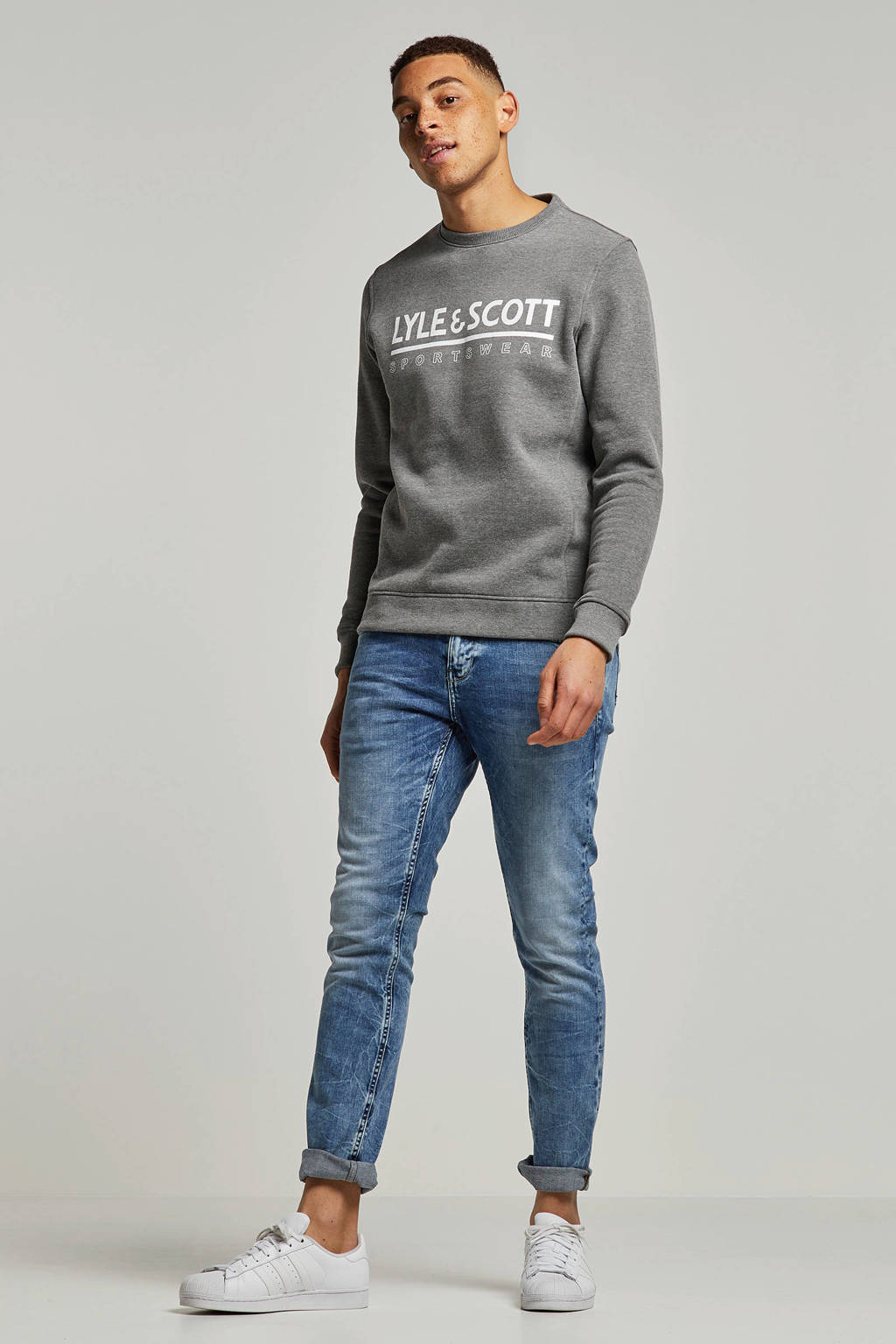 Lyle & Scott   sweater grijs, Grijs
