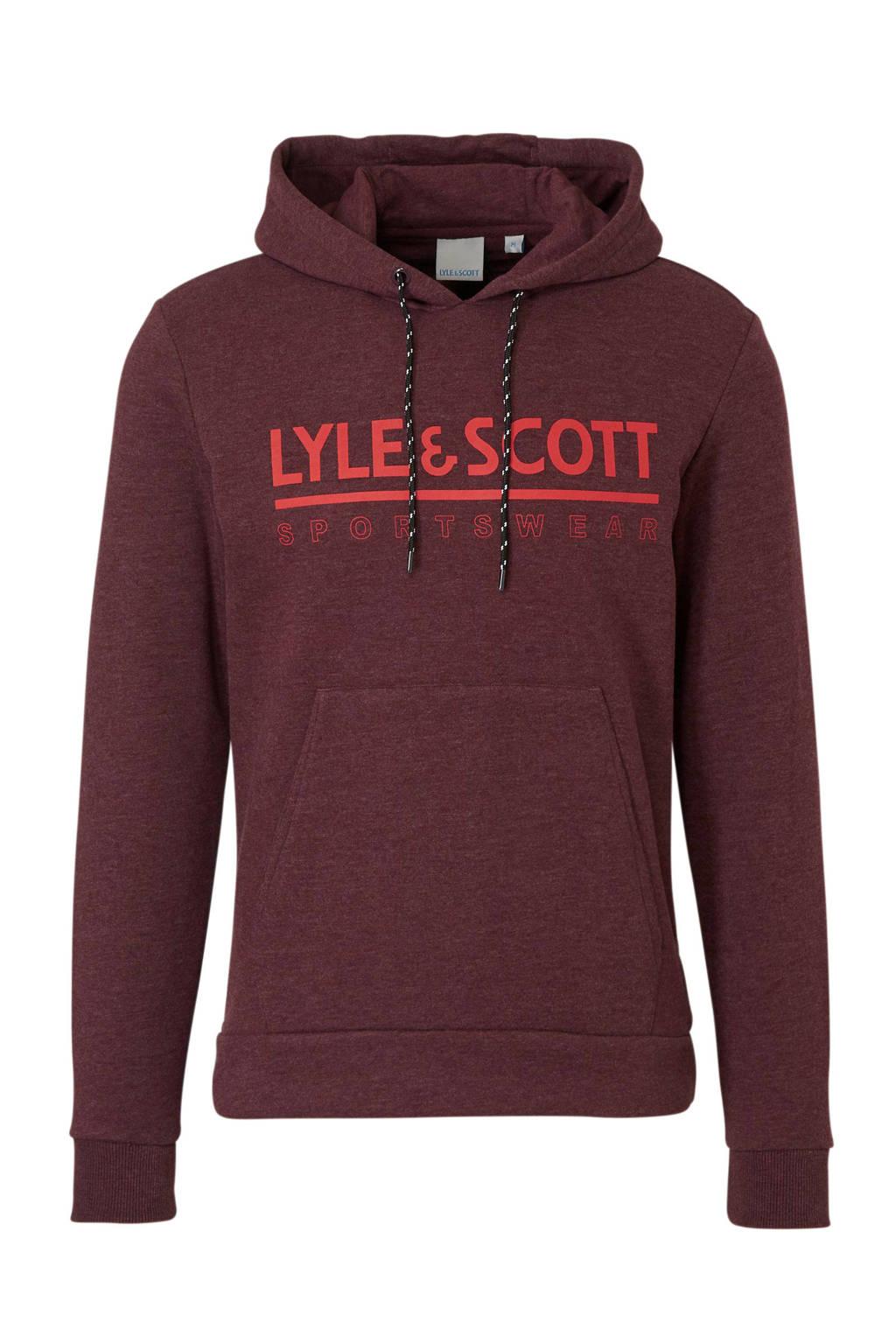 Lyle & Scott   hoodie bordeauxrood, Antraciet