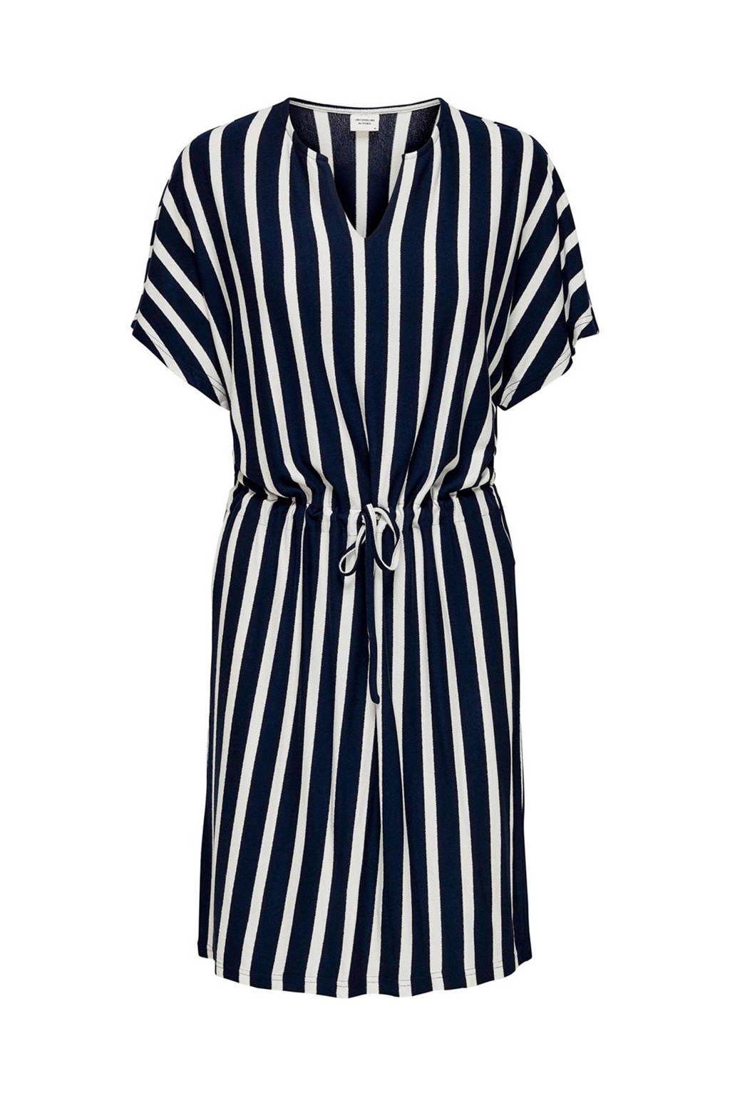 JACQUELINE DE YONG gestreepte jurk, Donkerblauw