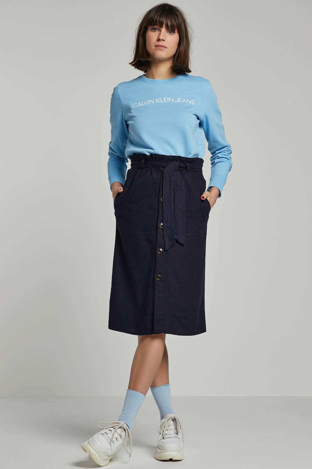 JACQUELINE DE YONG rok donkerblauw, Donkerblauw