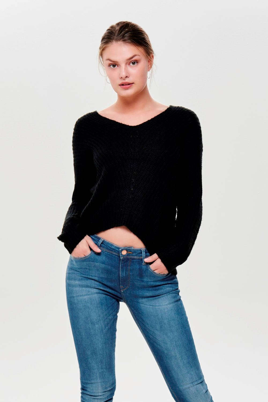 JACQUELINE DE YONG grofgebreide trui oker geel | wehkamp