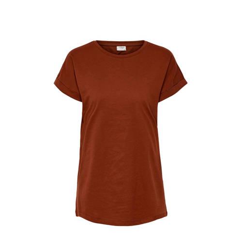 JACQUELINE DE YONG T-shirt roodbruin