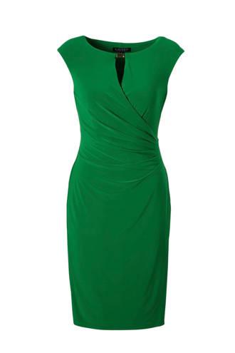 jurk met overslag detail groen