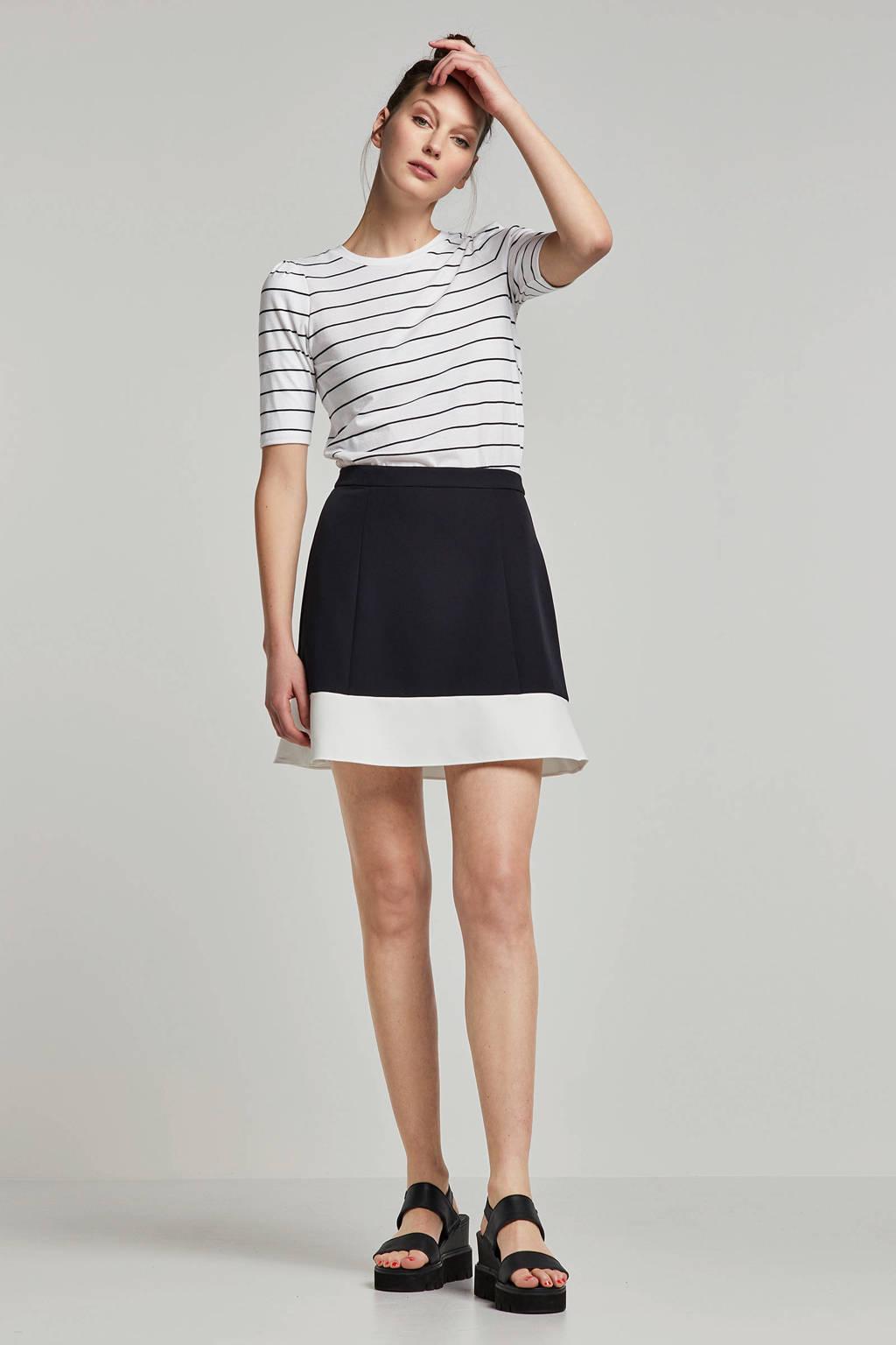 Lauren Ralph Lauren gestreepte top, Wit/zwart