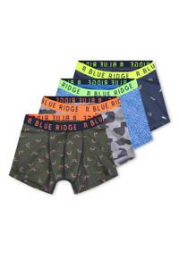WE Fashion   boxershort - set van 4, Kaki/grijs/blauw