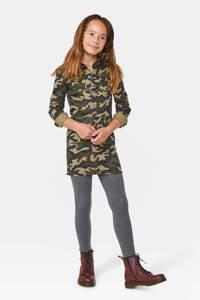 WE Fashion Blue Ridge spijkerjurk met camouflageprint, Groen
