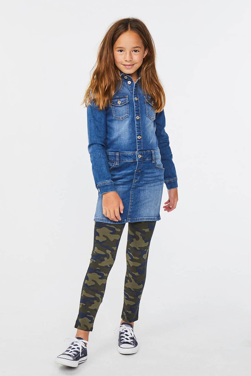 WE Fashion Blue Ridge spijkerjurk blauw, Blauw