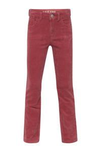 WE Fashion Blue Ridge corduroy bootcut broek Jenny Jade met textuur roze, Roze
