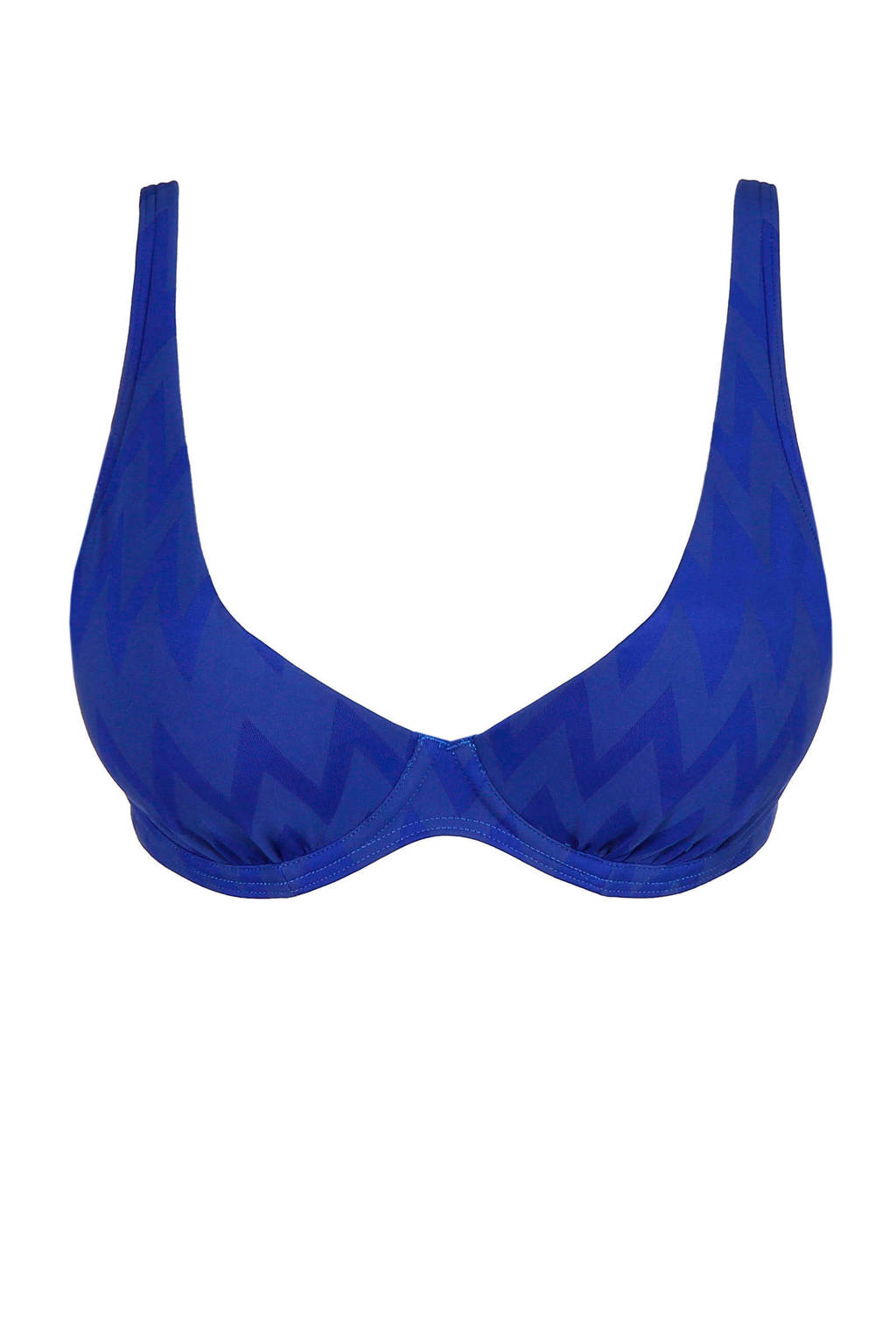 PrimaDonna beugel bikinitop Venice met structuur blauw, Blauw