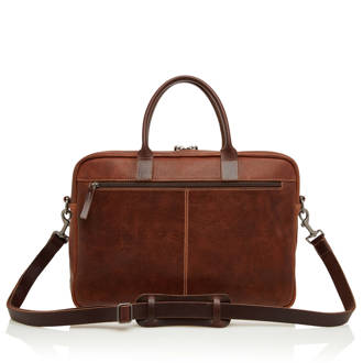 Renee by C&B 15,6 inch Rein leren laptoptas