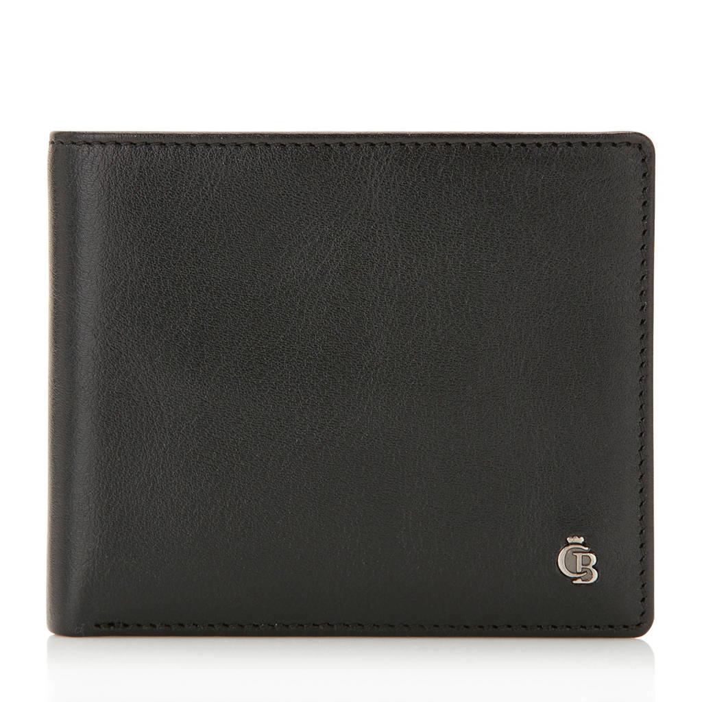 Castelijn & Beerens Nova RFID leren portemonnee zwart, Zwart