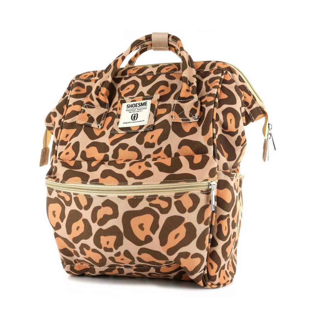 Shoesme rugzak luipaardprint, Beige/bruin