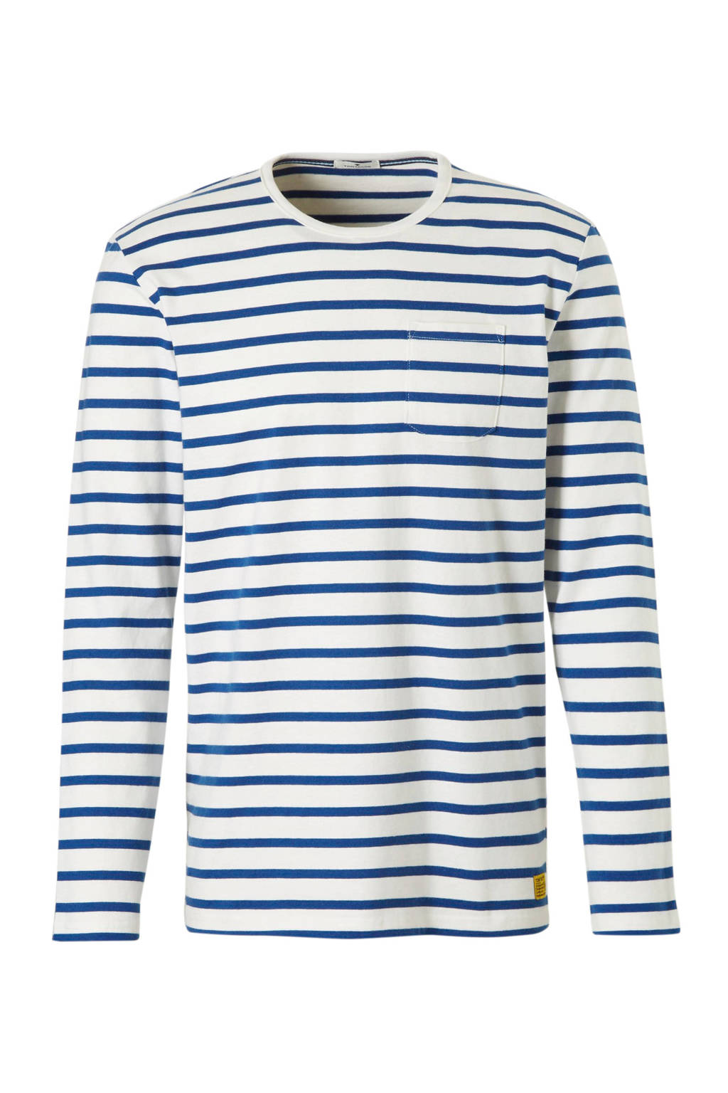 Tom Tailor gestreept T-shirt blauw, Blauw/wit