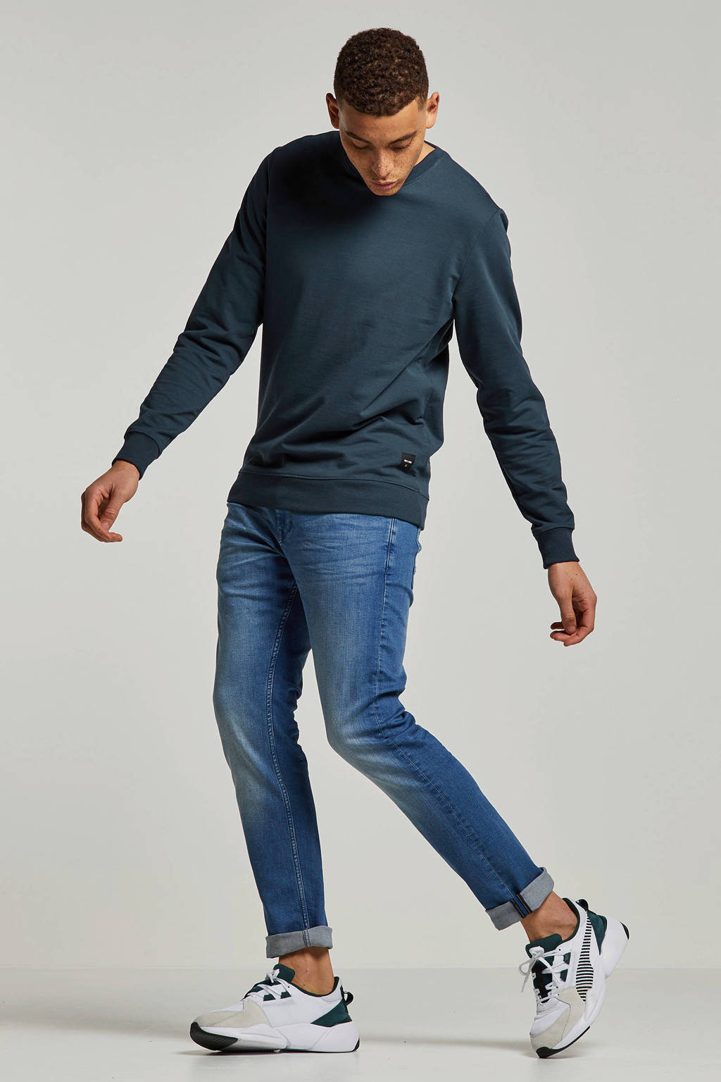 Tom Tailor slim fit jeans Troy, Used Bleached Blue