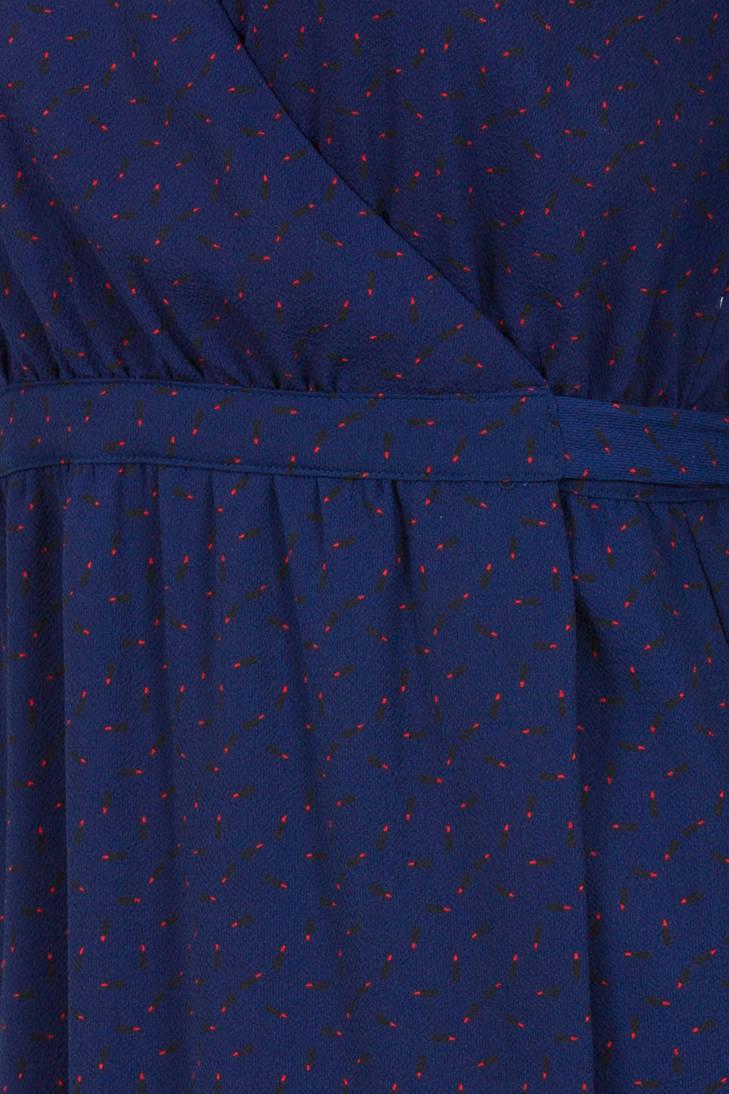 wikkeljurk print blauw met Steps allover avBw6dan