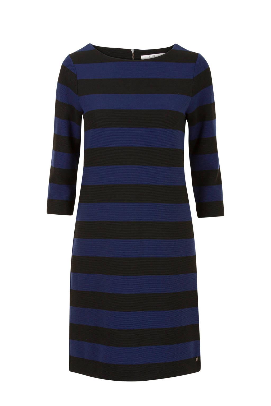 Steps gestreepte jurk blauw, Blauw