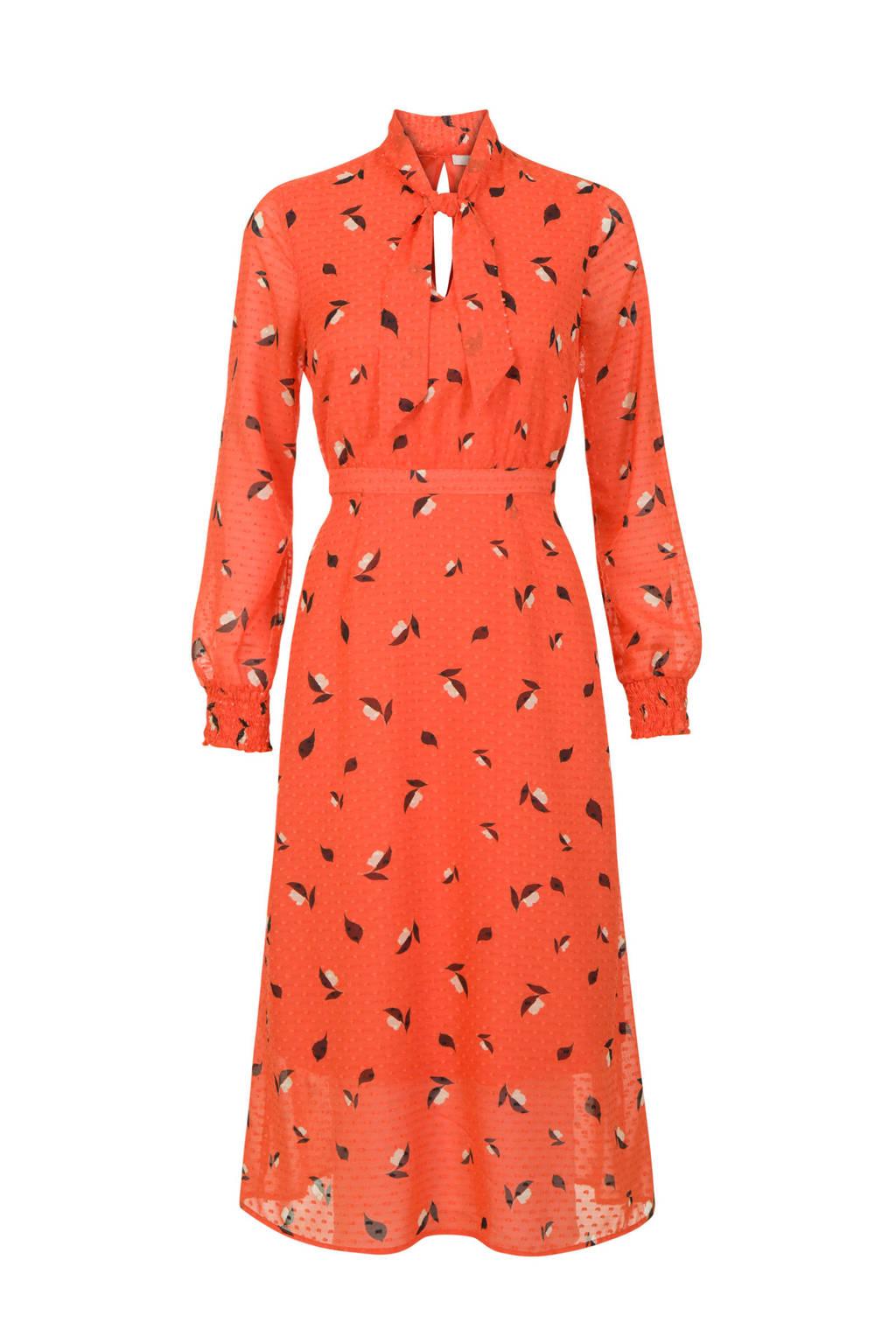 Steps jurk met allover print oranje, Oranje
