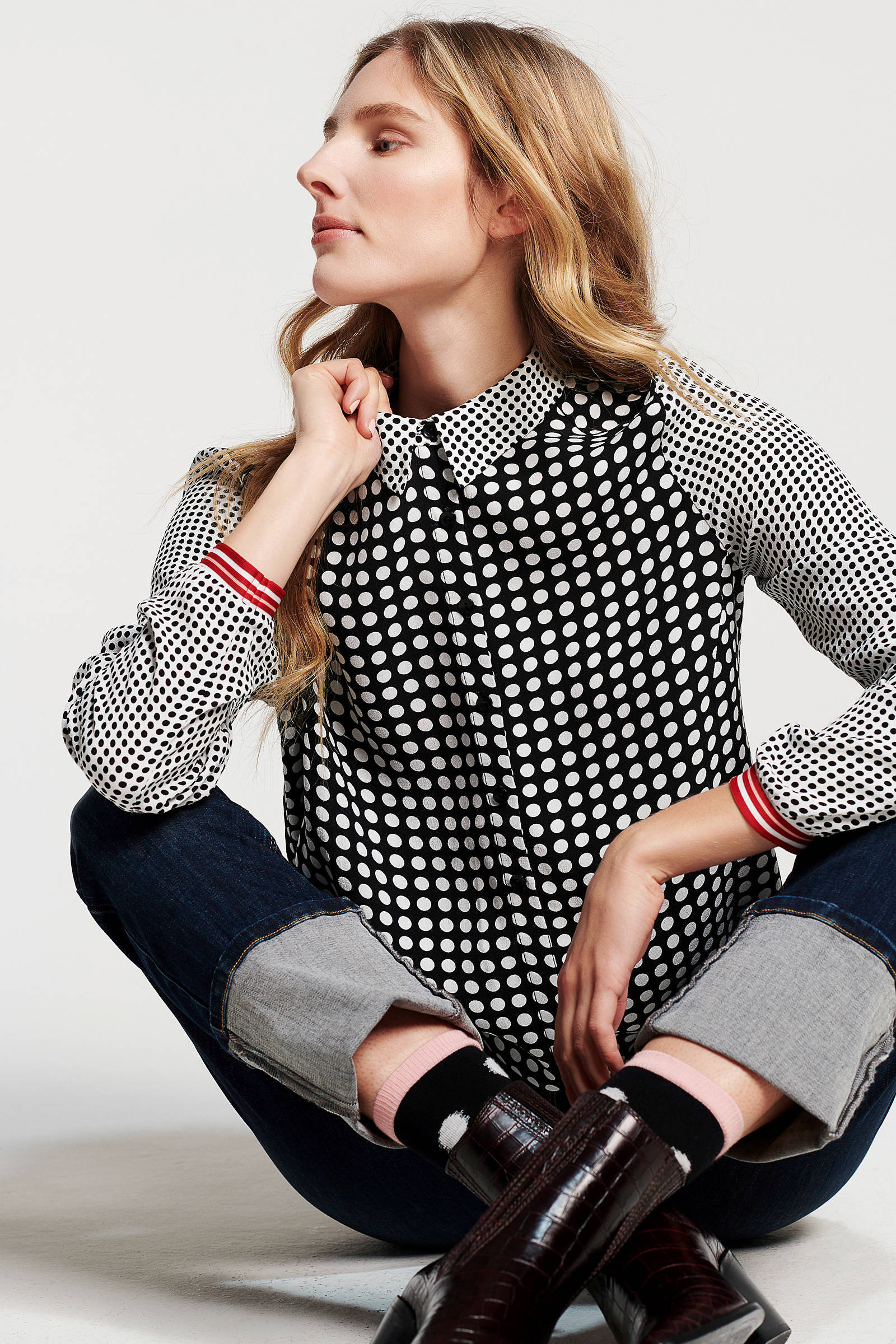 stippenprint stippenprint zwart met Didi blouse blouse Didi met zwart Bf0dqwzv