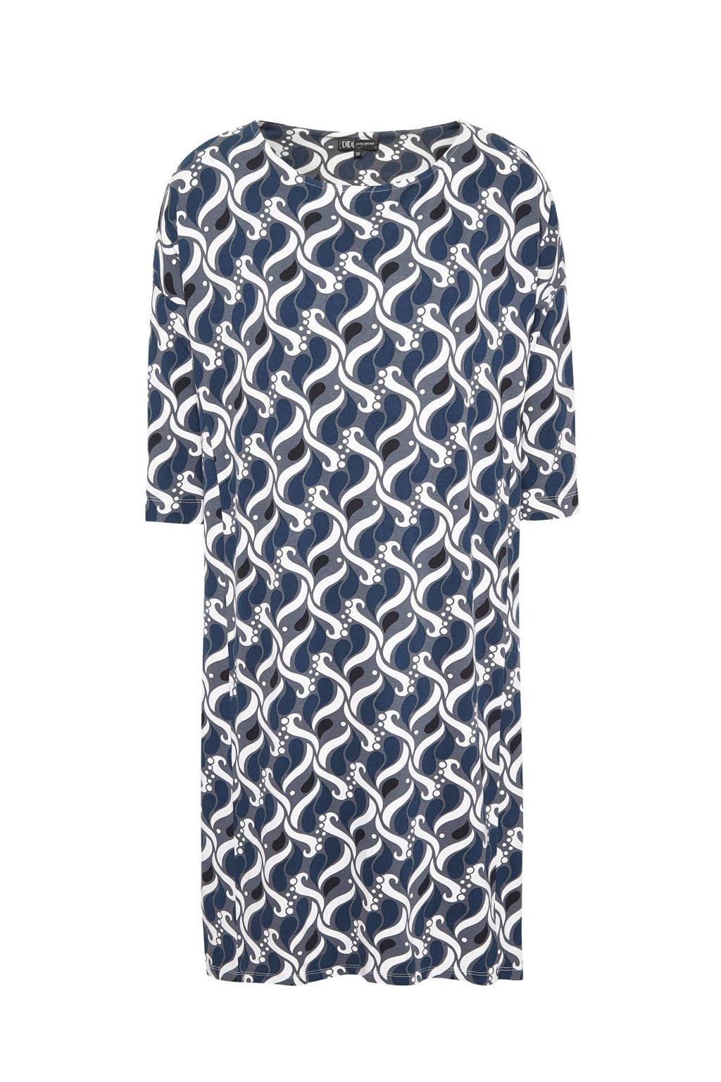 Didi jurk met all over print antraciet, Antraciet