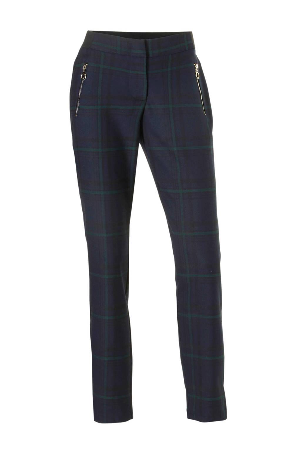 C&A YSS Shop broek met ruitprint blauw, Donkerblauw