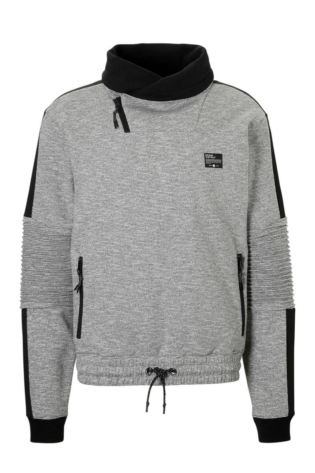 C&A Angelo Litrico gemêleerde sweater grijs, Grijs/zwart