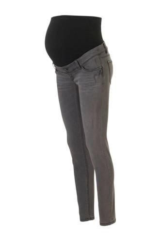 The Denim skinny zwangerschapsjeans grijs