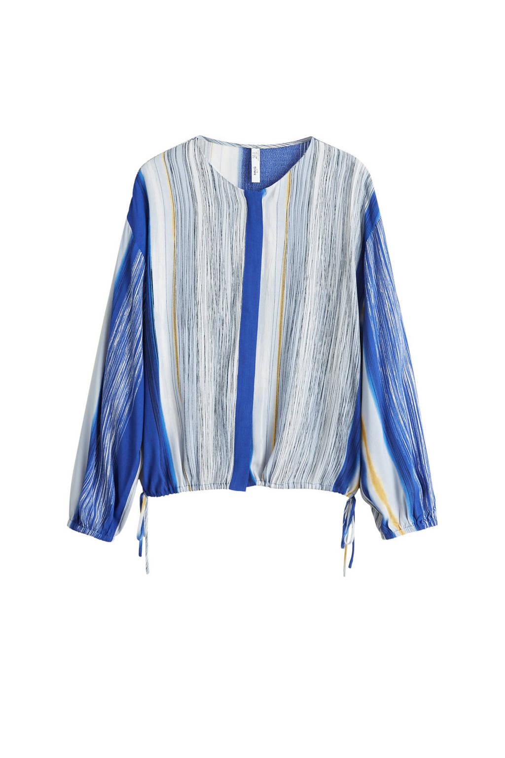 Mango blouse blauw, Blauw