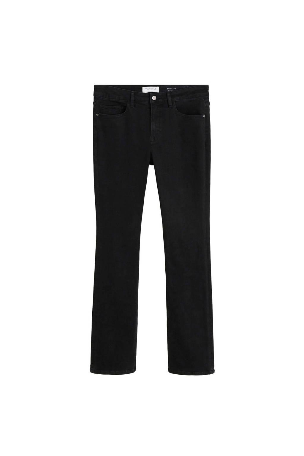 Violeta by Mango pantalon zwart, Zwart