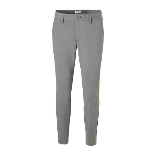 ONLY & SONS slim tapered fit chino grijs melan