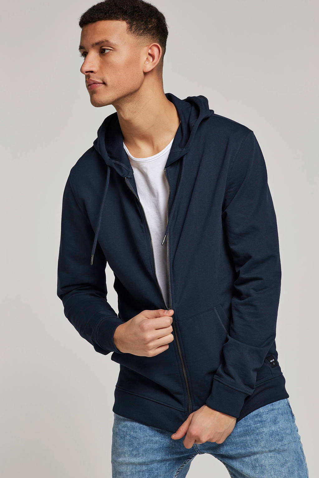 Only & Sons sweatvest, Donkerblauw