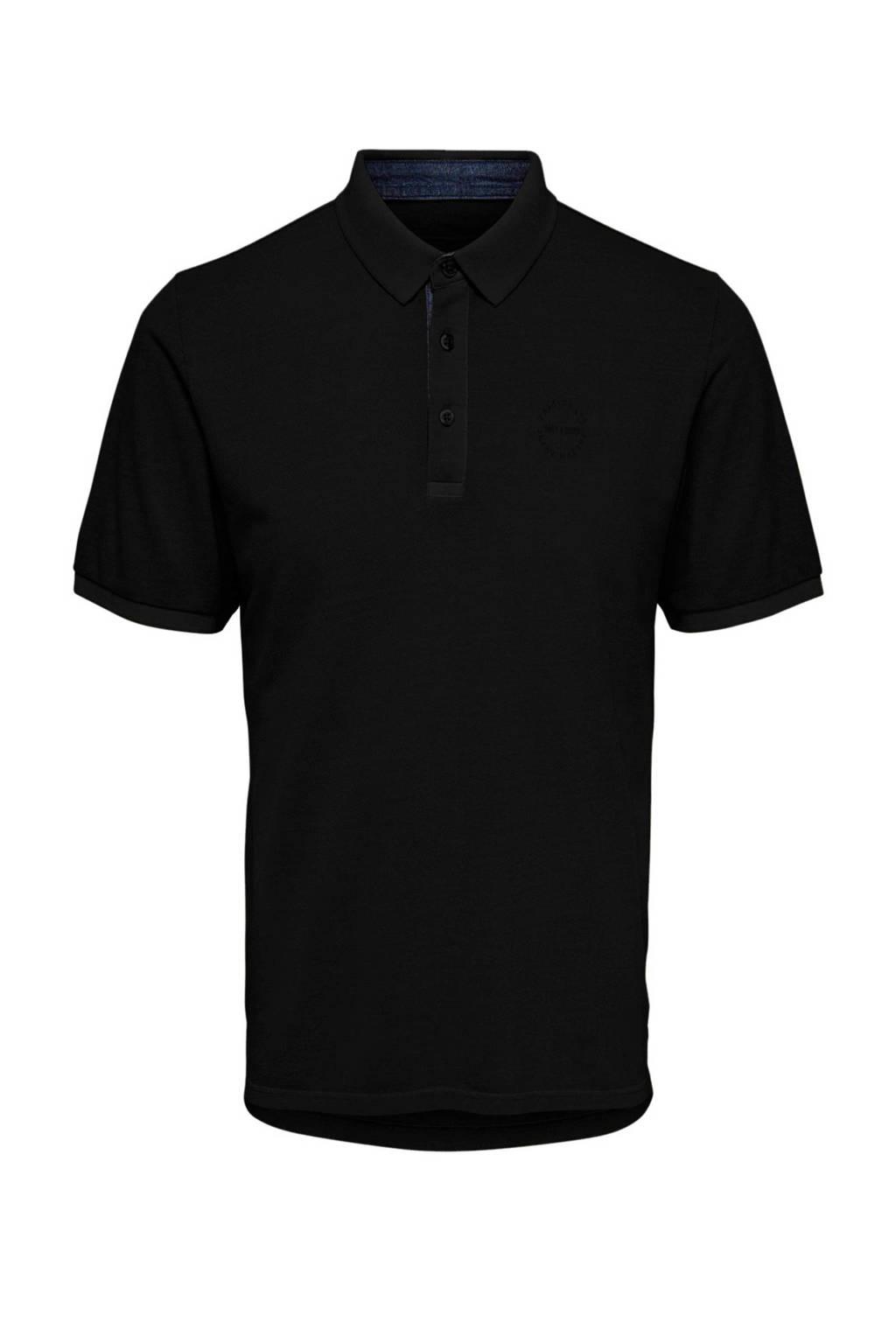 Only & Sons polo zwart, Zwart