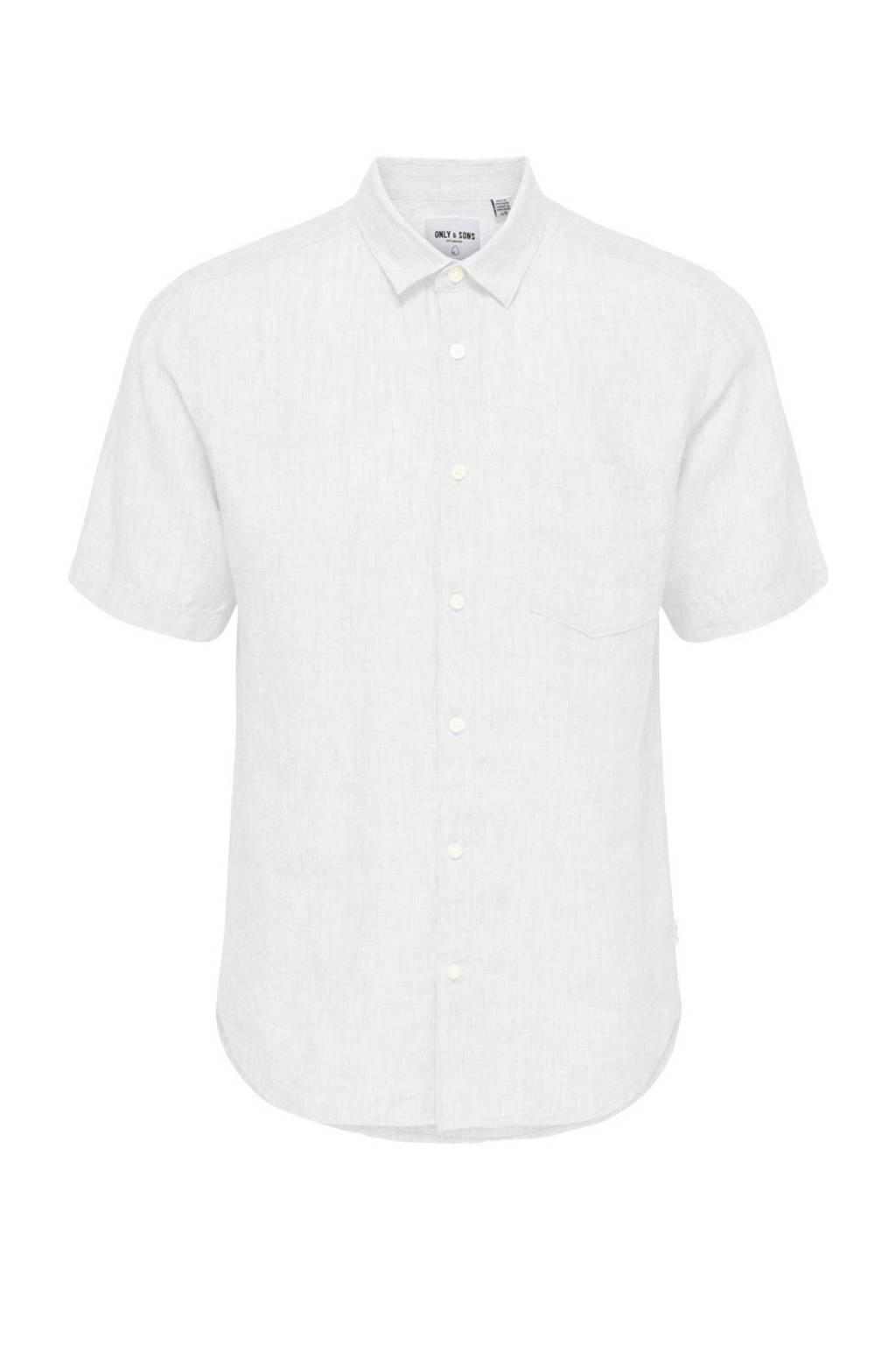 Only & Sons linnen overhemd, Wit