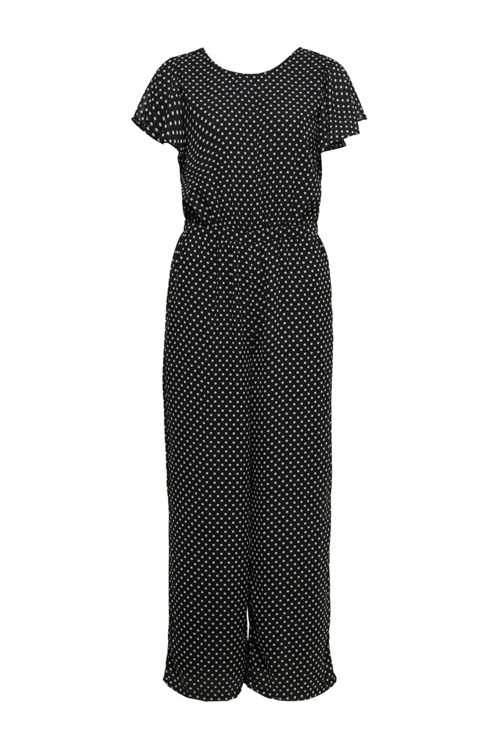 ONLY jumpsuit met stippen, Zwart/wit