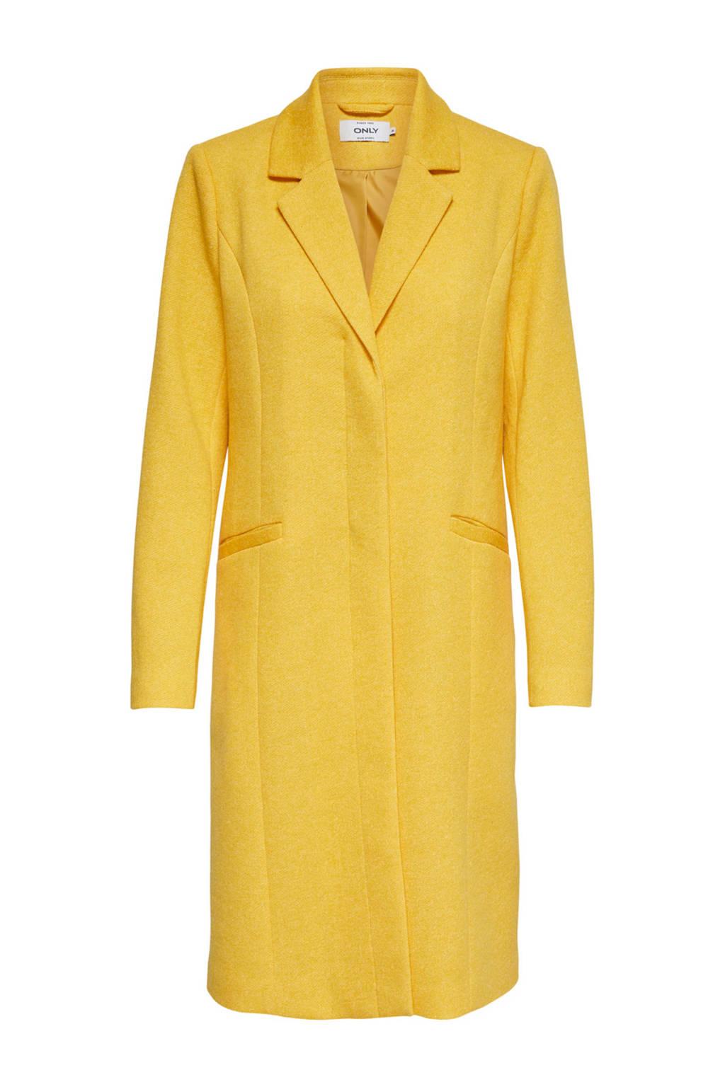 ONLY lange coat geel, Geel