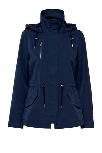 jas met capuchon donkerblauw