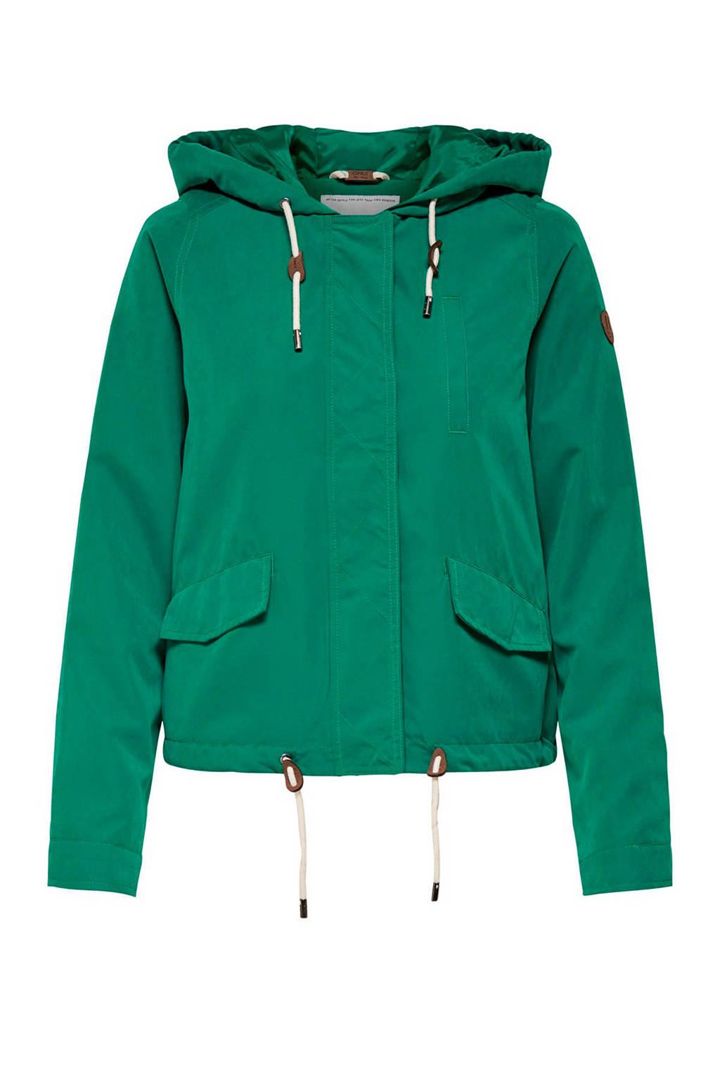 ONLY jas met capuchon groen, Groen